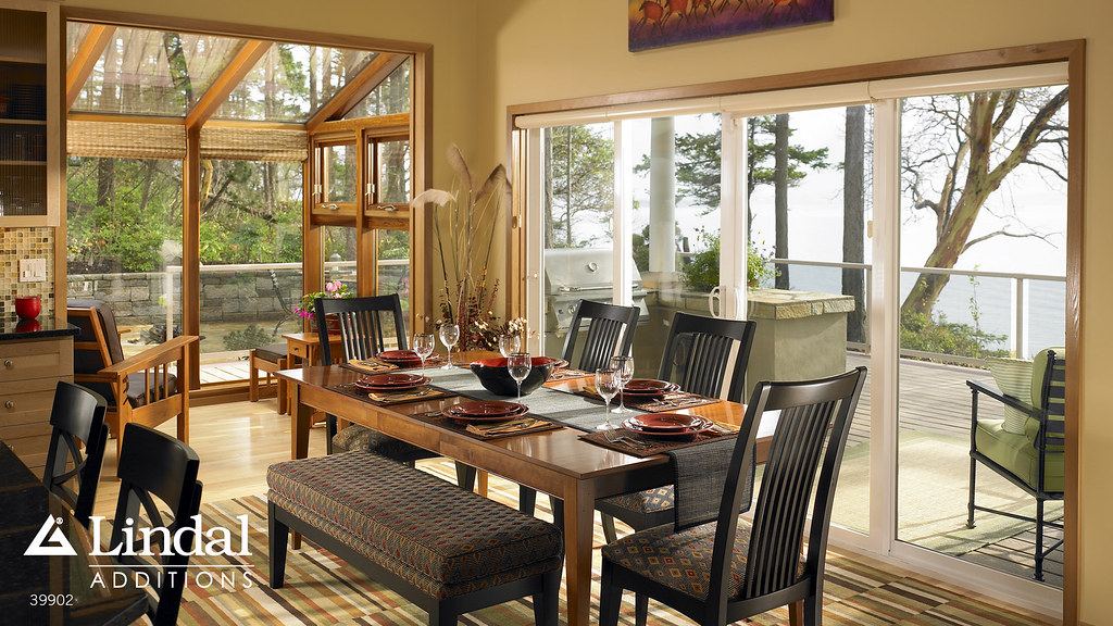 sunroom off of dining room adding light lindal cedar homes flickr. Black Bedroom Furniture Sets. Home Design Ideas