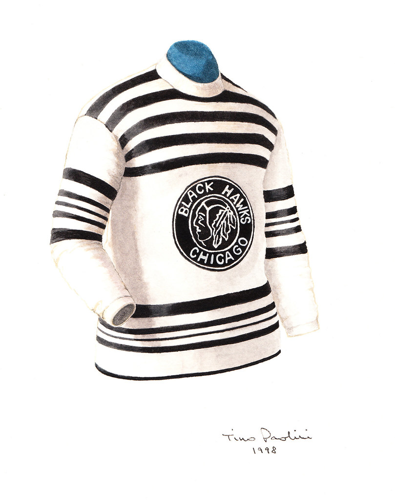 Chicago Blackhawks 1926 27 Jersey Artwork This Is A