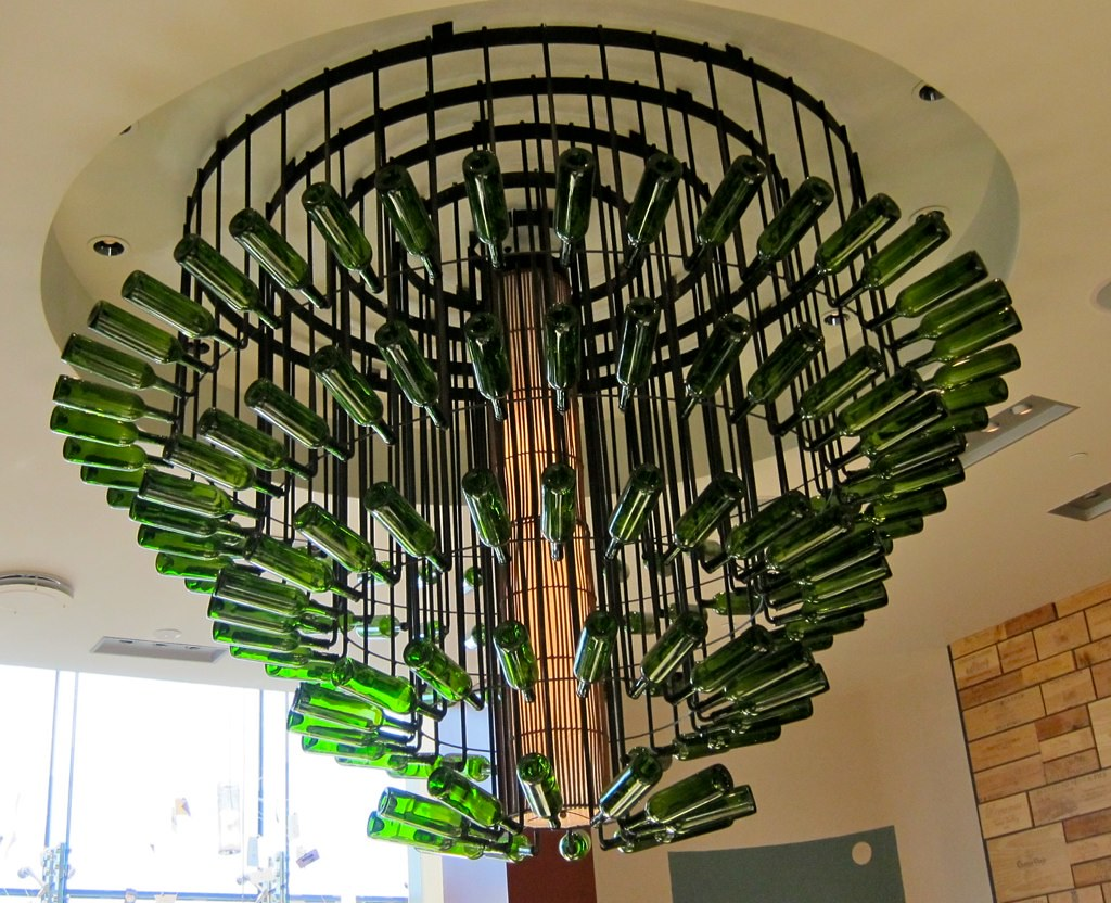 Wine Bottle Chandelier This Huge Chandelier Hangs In The