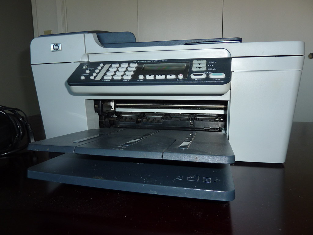20 hp officejet 5610 all in one printer fax scanner copie flickr. Black Bedroom Furniture Sets. Home Design Ideas