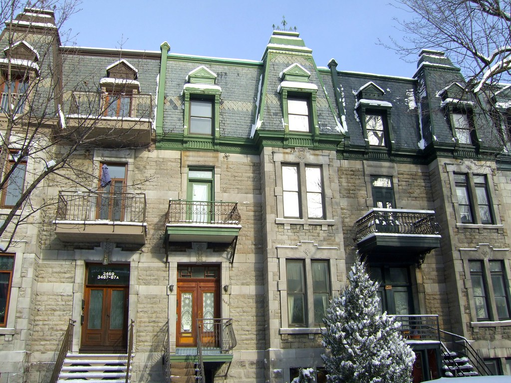 Second empire style row houses laval and prince arthur for Second empire homes for sale