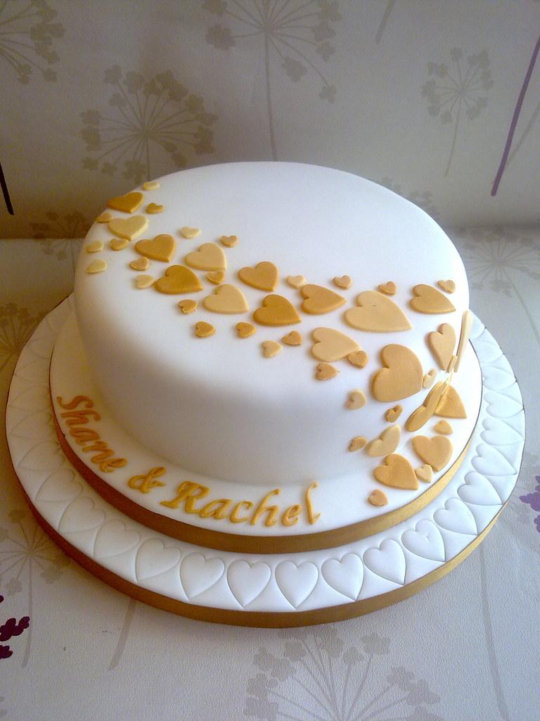 Single Layer Wedding Cake Images
