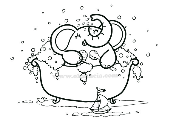 l bath time coloring pages - photo #10