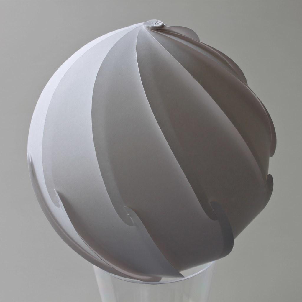 Spherical Spiral | 130 mm diameter paper: t=148μm, 128g/m2 ... - photo#21