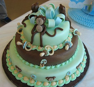 Monkey Baby Shower Cake | by TN Something Special Cakes