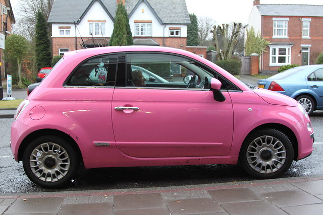 fiat 500 pink flickr photo sharing. Black Bedroom Furniture Sets. Home Design Ideas