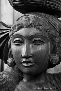 Wooden Figure in Borough Market | by Luke Robinson