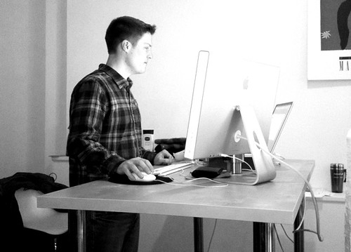 Standing desk at work | by mijustin
