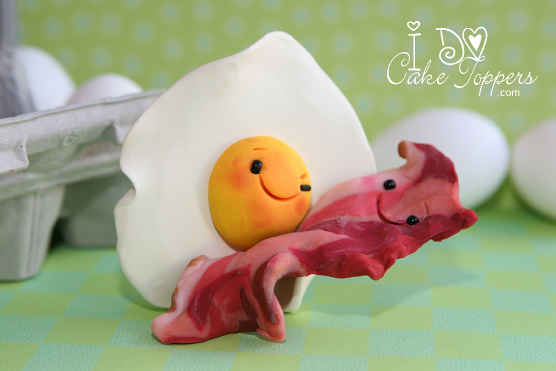 egg wedding cake topper egg and bacon visit www idocaketoppers email 13943