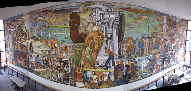 Diego rivera 39 s pan american unity mural city college sf for Diego rivera pan american unity mural