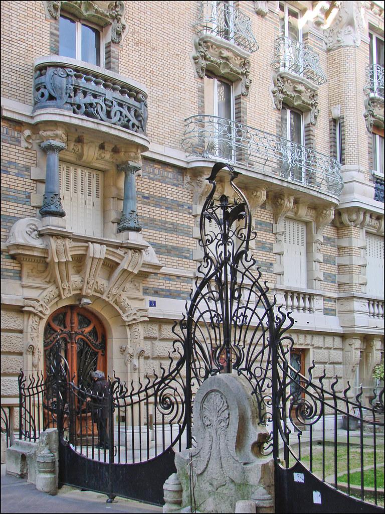 Immeuble art nouveau de jules lavirotte fa ade et grille - Art nouveau architecture de barcelone revisitee ...