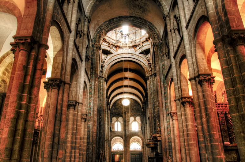Cathedral inside santiago de compostela interior de la c - Interior santiago de compostela ...