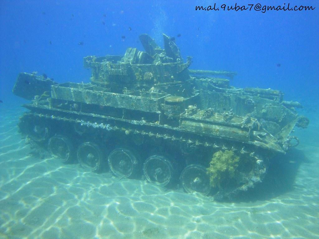 Wreck tank in aqaba diving in jordan mohammad alsabah for Aqaba dive