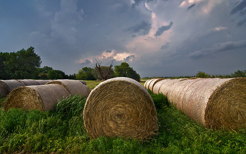 Storm over the Hay Bales | by Matt Granz Photography