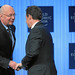 Klaus Schwab and Nicolas Sarkozy - World Economic Forum Annual Meeting 2011