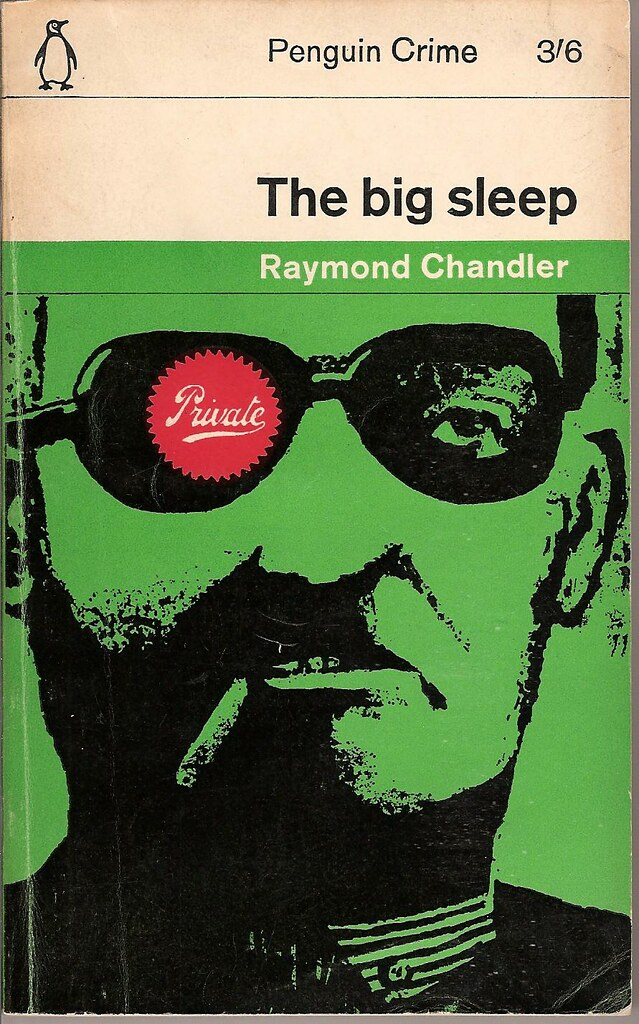 Penguin Book Cover Merchandise ~ The big sleep penguin book cover by john sewell