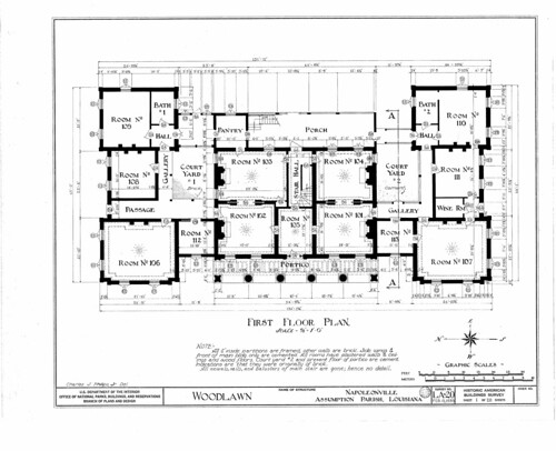 Woodlawn plantation first floor plan flickr photo Louisiana plantation house plans