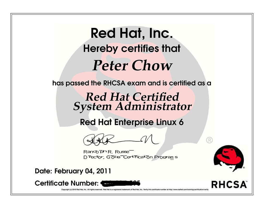 Rhcsa recently obtained the redhat certified system admini flickr xflitez Images