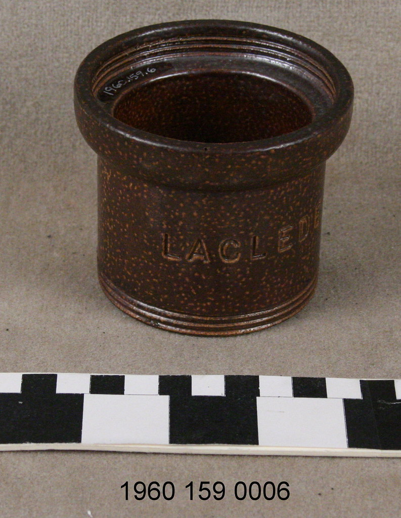 Piece Of Sewer Pipe Made By The Laclede Fire Brick Manufac