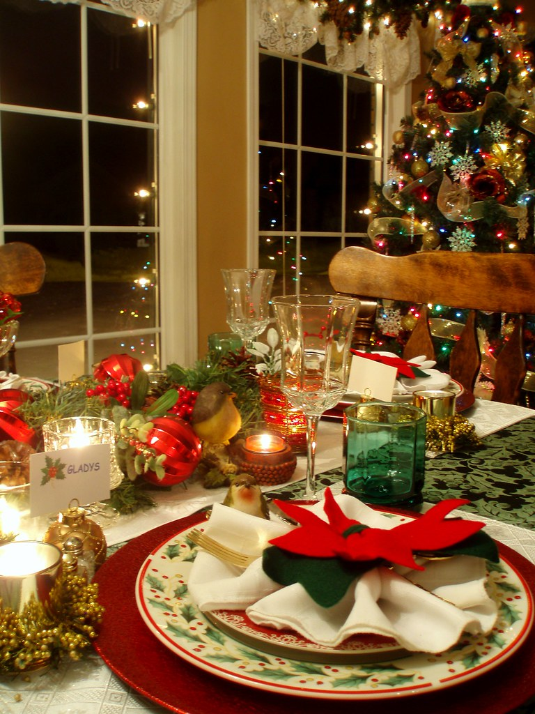 Christmas Table Setting Dining Delight Flickr