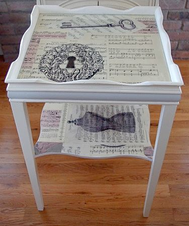 Decoupage Cottage Table Decoupage Cottage Table In A