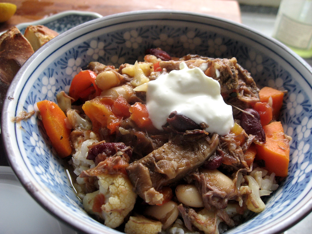 Slow cooked beef stew with greek style yogurt | Slow cooked ...