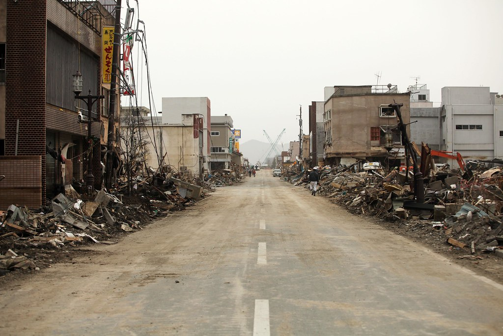 2011 tsunami aftermath.
