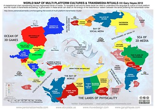 World Map of Multi-Platform Cultures & Transmedia Rituals | by Gary Hayes