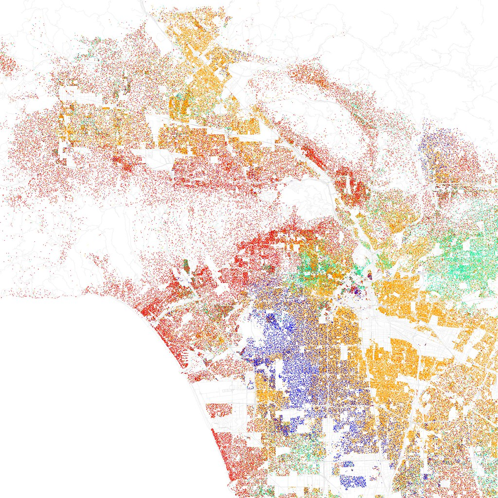 Race And Ethnicity Los Angeles Maps Of Racial And Et Flickr - Race maps of us cities