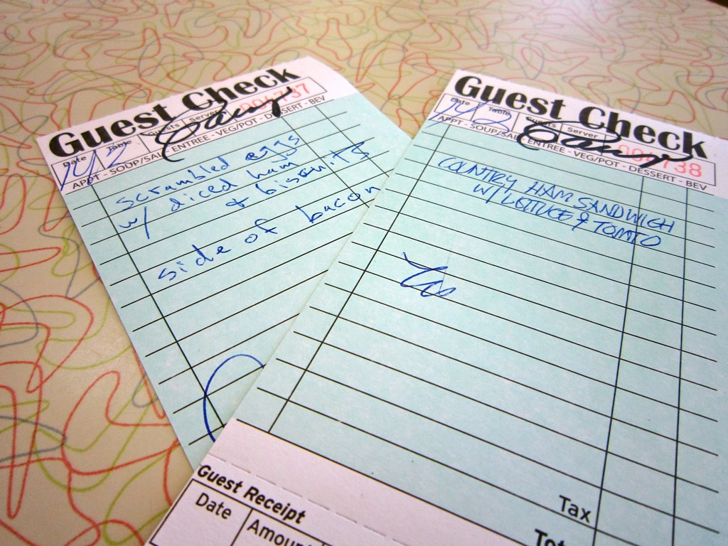 Fill out your own guest check silver skillet atlanta ga flickr ccuart Images