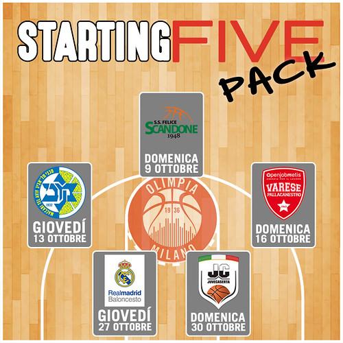 Starting Five Pack: il mini abbonamento alle prime 5 dell'EA7