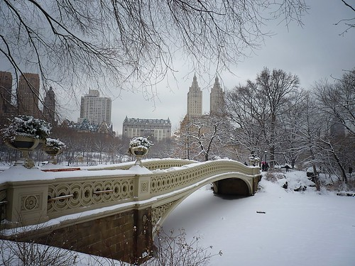 Bow Bridge in the Snow - Central Park - Winter - New York City | by Vivienne Gucwa