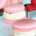 raspberry macarons with white chocolate cream 1223 R