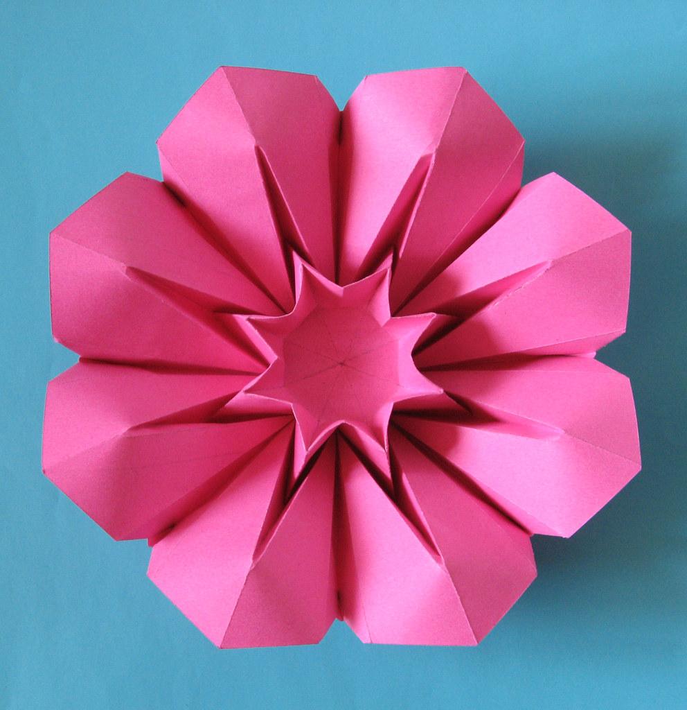 corolla variazione 1 tecnica origami con foglio