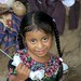Una niña; Casería Las Vegas entre Poaquil y Santo Apolinar, Chimaltenango, Guatemala