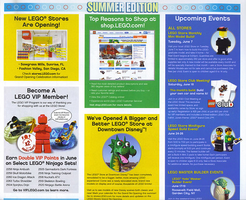 LEGO Store Calendar JUNE 2011 BACK Half Top. | by LegoDad42