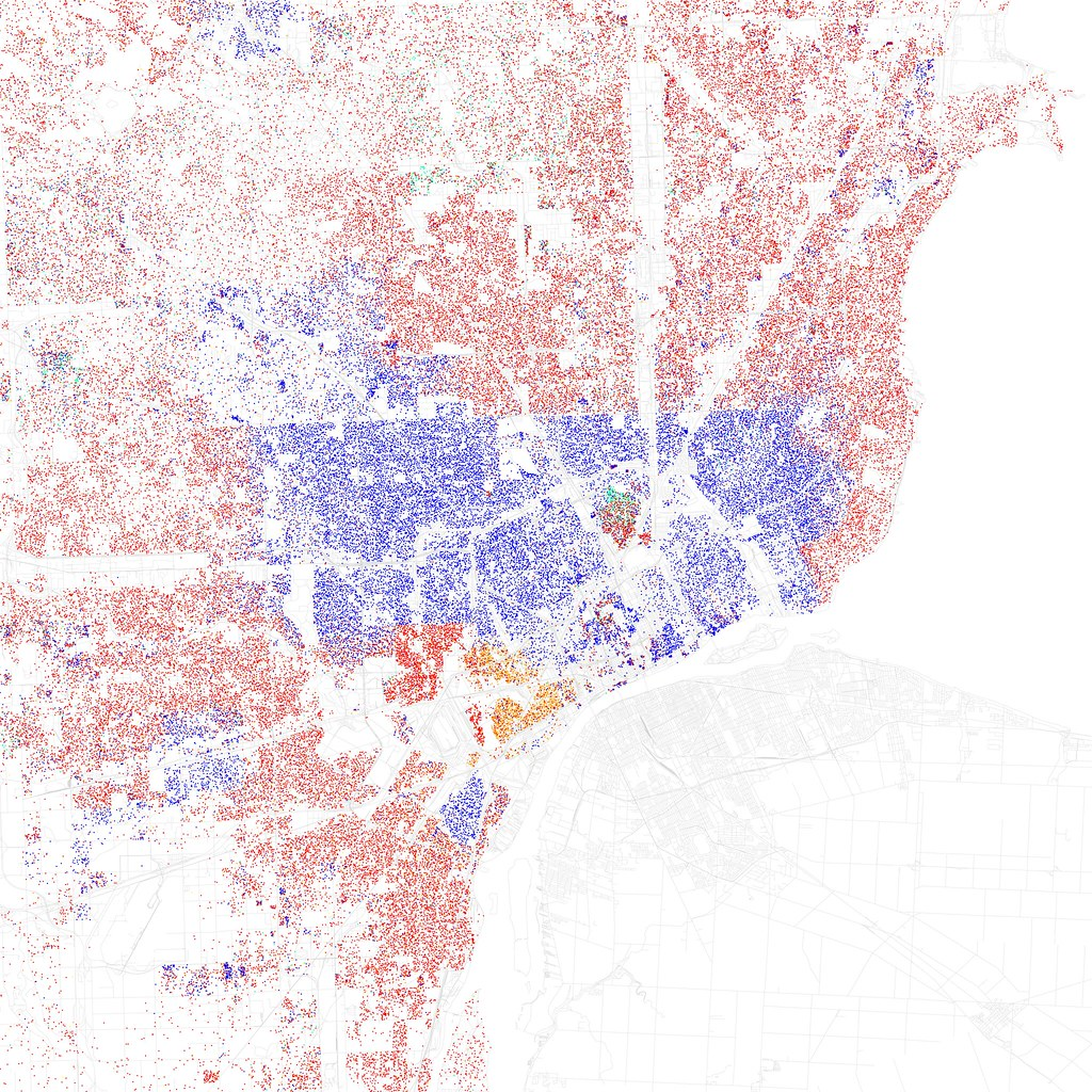 Race And Ethnicity Detroit Maps Of Racial And Ethnic Flickr - Us race map