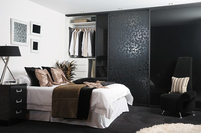sliderobes fitted sliding wardrobe black damask flickr