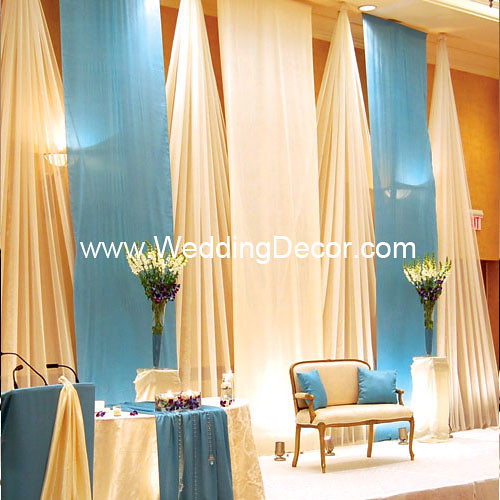 wedding backdrop baby blue ivory a baby blue and ivory flickr. Black Bedroom Furniture Sets. Home Design Ideas