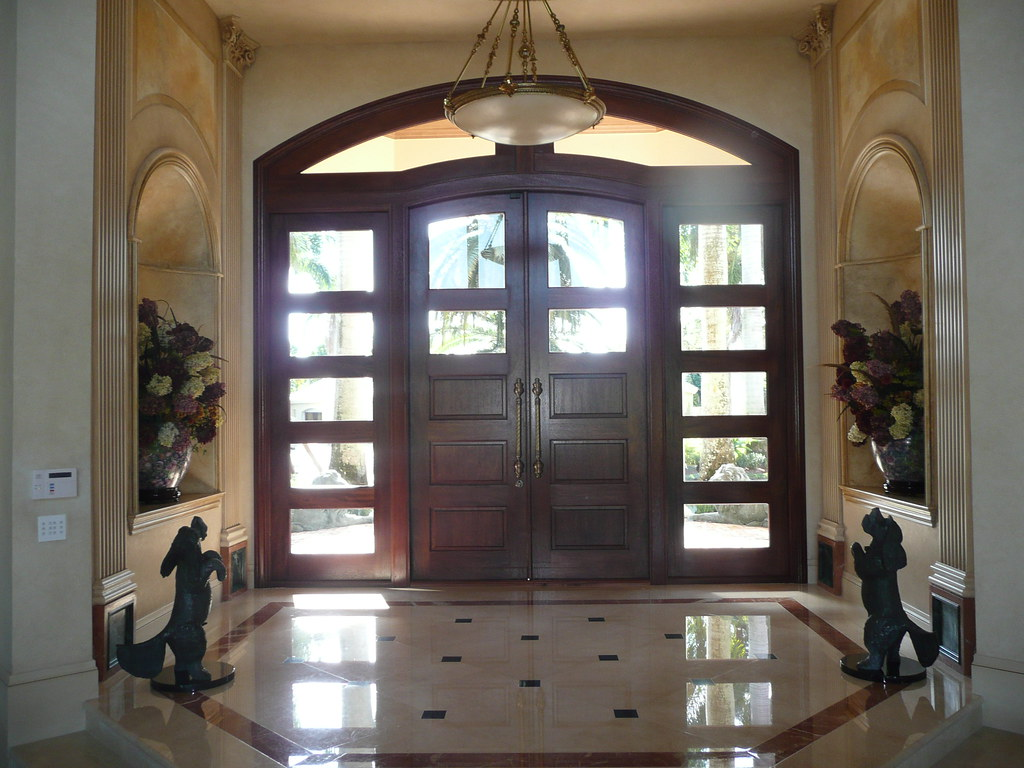 Mahogany Double Door Sidelites Arched Transom Genuine