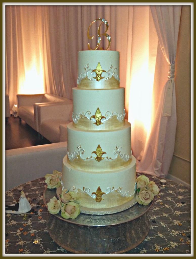 fleur de lis wedding cake design | Christy Vega-Gluch | Flickr