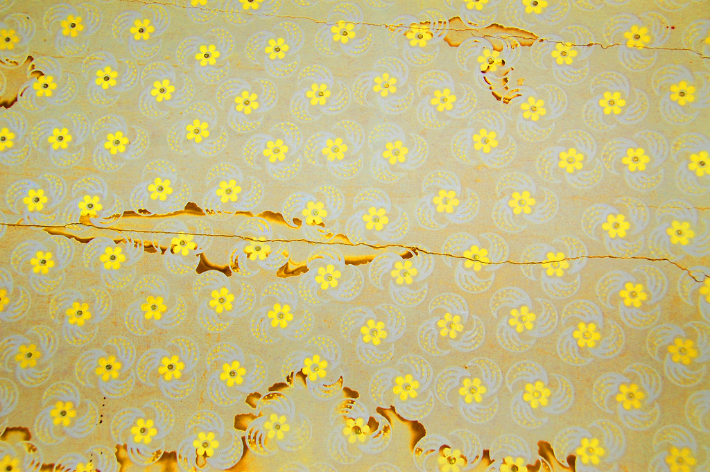 Vintage Wallpaper-yellow flowers   Some of the wallpaper