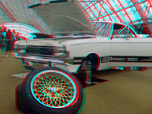 3d red cyan anaglyph ami style 2011 opel rekord c coup. Black Bedroom Furniture Sets. Home Design Ideas