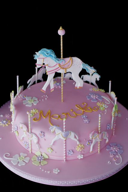 Horse Carousel Design Idea For This Cake Is By Quot We Want