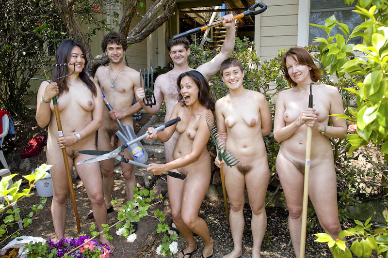 Suggest you women doing yardwork naked consider, that