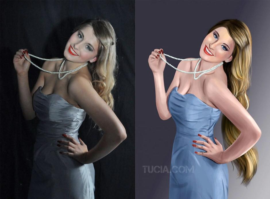 Как в фотошопе из фото сделать картину маслом