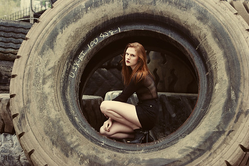 Taylor and the Giant Tire II | by kathrynstabile
