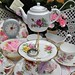 Quirky mixed vintage china cake stand