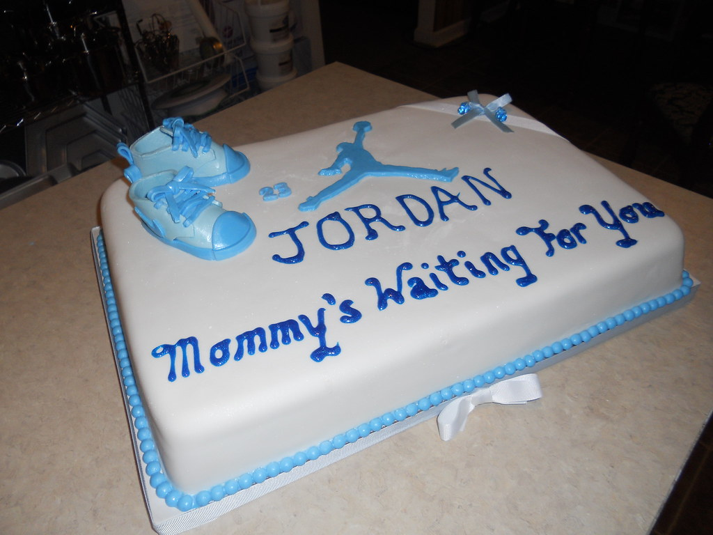 baby jordan shower cake pam 39 s homemade cakes flickr