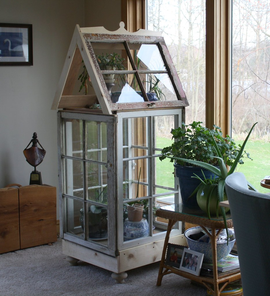 Greenhouse jamie made for me out of old windows flickr for What is a greenhouse made out of